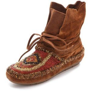 House of Harlow Beaded Suede Moccasin Size 40.